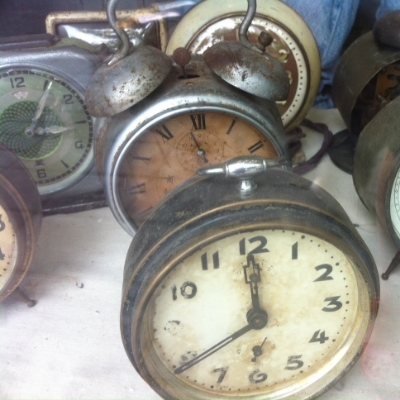 Old clocks in an antique store in Shanghai.