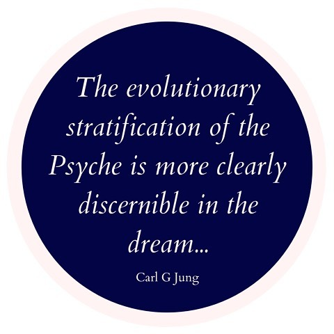 """""""The evolutionary stratification of the Psyche is more clearly discernible in the dream than in the conscious mind. In the dream, the psyche speaks in images, and gives expression to instincts, which derive from the most primitive levels of nature. Therefore, through the assimilation of unconscious contents, the momentary life of consciousness can once more be brought into harmony with the law of nature from which it all too easily departs, and the patient can be led back to the natural law of his own being."""" - Carl G Jung"""