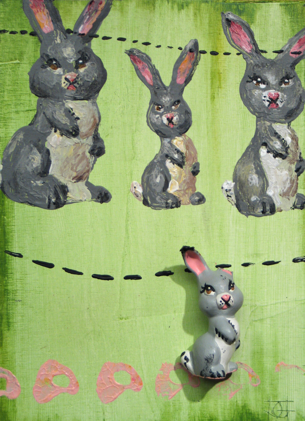 From the series: Objects that Paint Themselves. (Used the bunny instead of a brush.)
