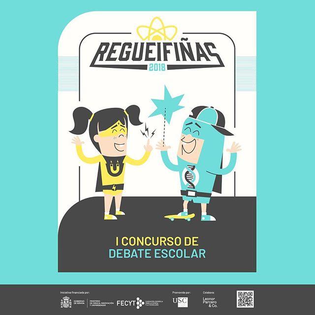 #Regueifiñas é o noso primeiro concurso de debate escolar. Consulta as bases na web regueifas.org/regueifinas e consigue interesantes premios para ti e os teus compañeiros e compañeiras de clase!  O prazo para preinscribirse remata o 12 de decembro, pero terás ata o mes de febreiro para enviar o teu vídeo.  #divulgación #ciencia #debate #concursodedebate #Galicia #Regueifas #RegueifasDeCiencia