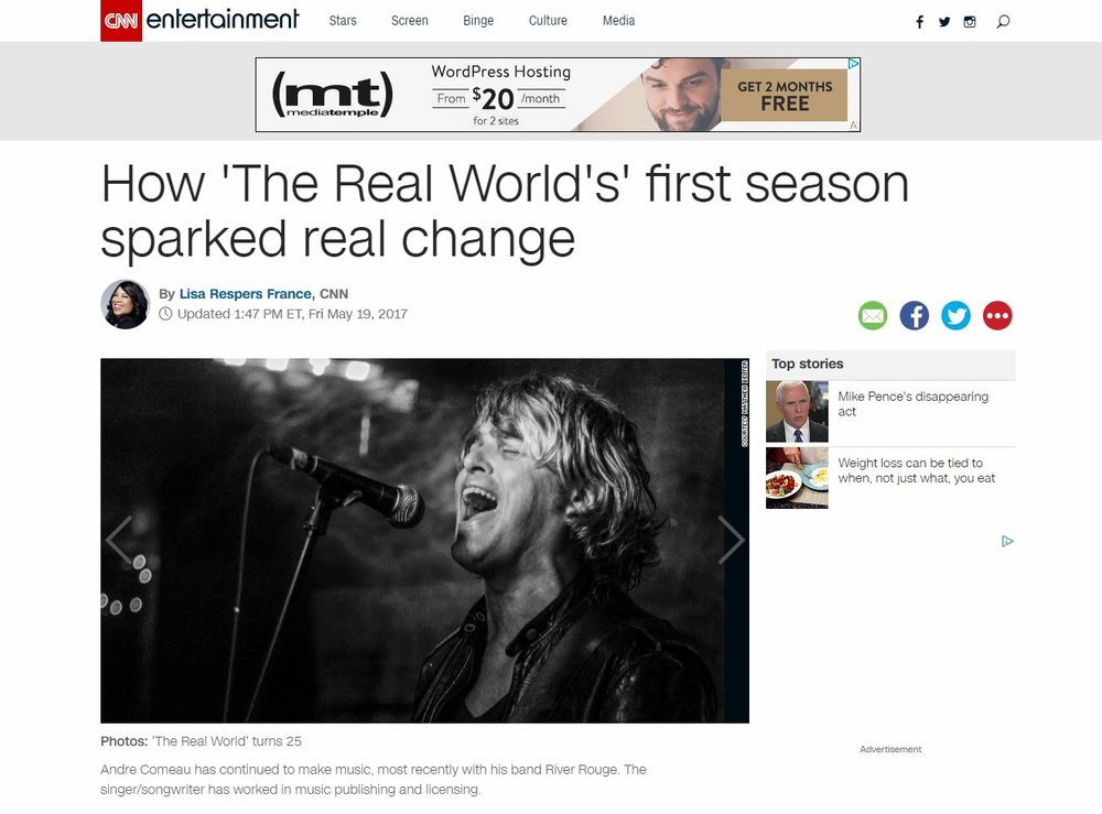 """The Real World's First Season"" - CNN.Com (May 19, 2017)"