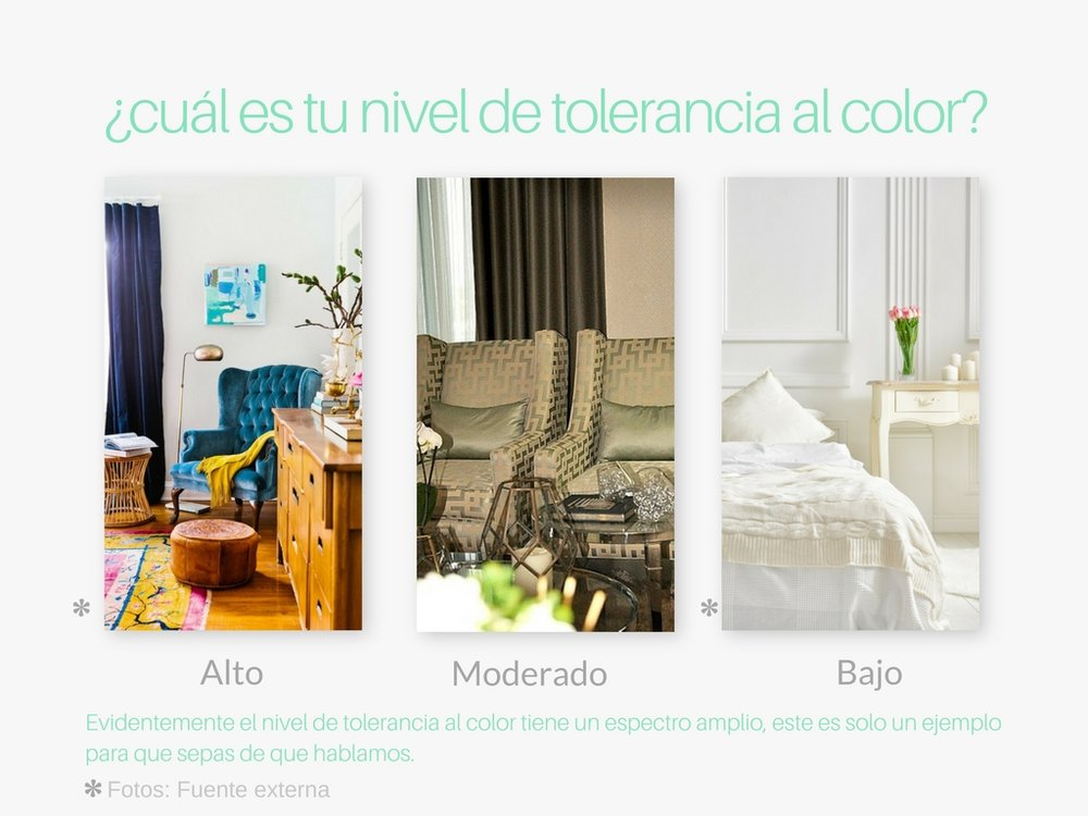 ¿Cual es tu nivel de tolerancia al color?