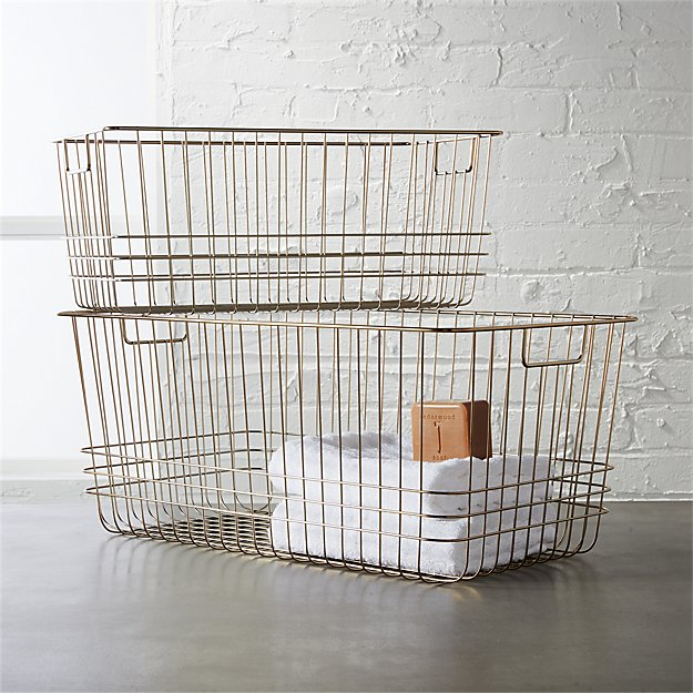 CB2. bridgeport metal wire baskets