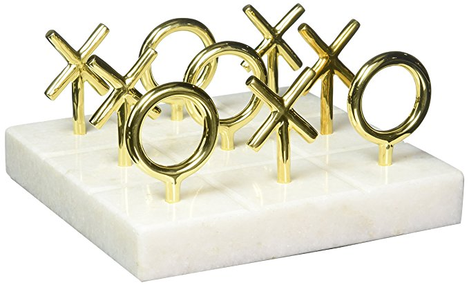 Jonathan Adler Women's Brass Tic Tac Toe Game