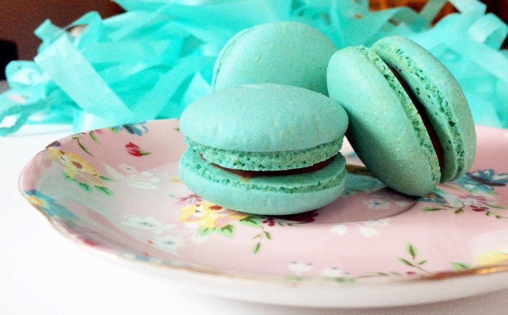 macarons azul