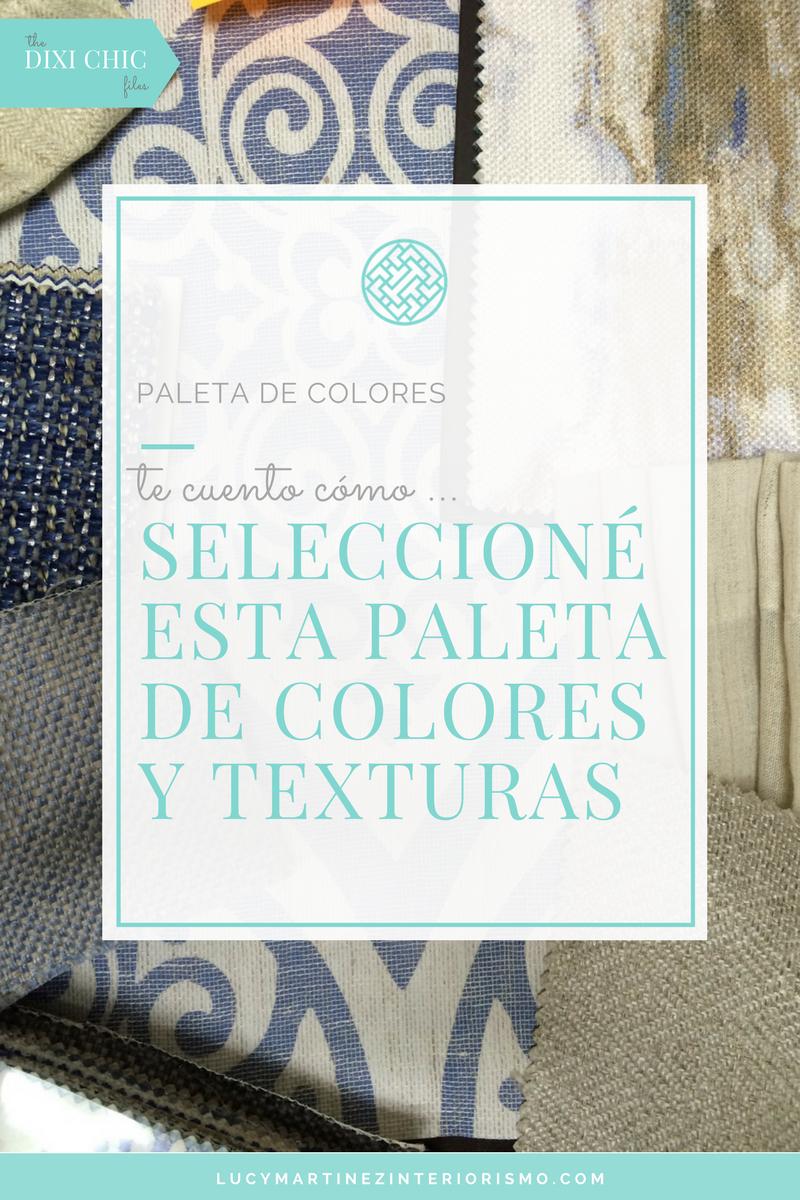 como elegir paleta de colores y textiles