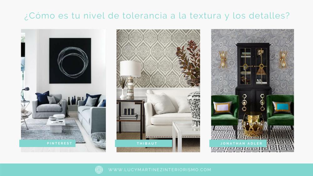 Nivel de tolerancia a texturas y detalles