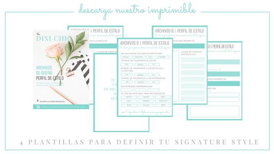 imprimibles para definir tu estilo en decoracion