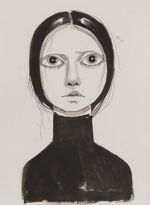 Tania Marmolejo. Ink on watercolor paper.  Lyle O Reitzel Gallery