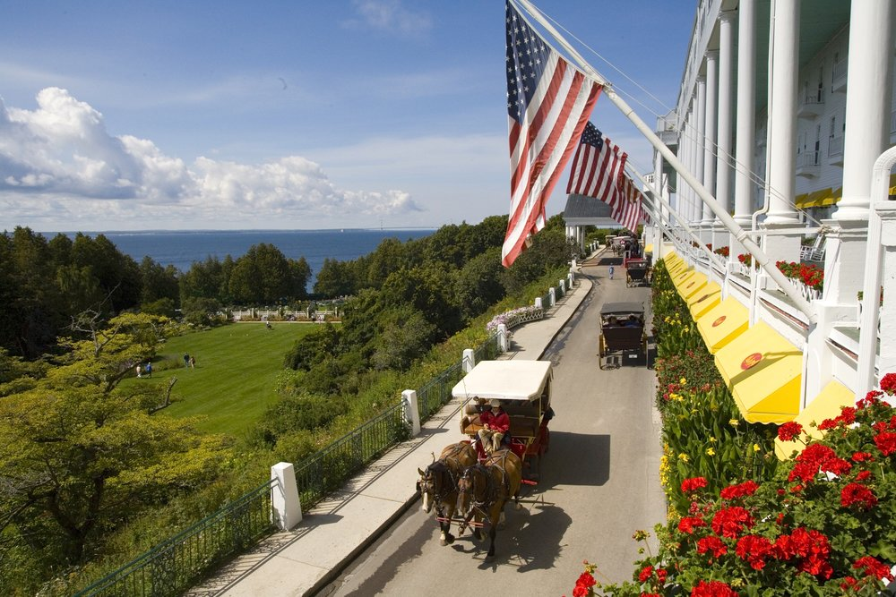 Enter to win a 3-NIGHT VACATION TO the historic grand hotel on mackinac ISLAND in michigan.