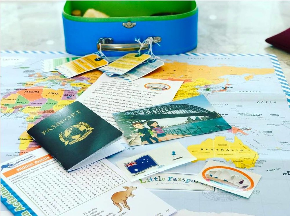 1/Monthly subscription to Little Passports