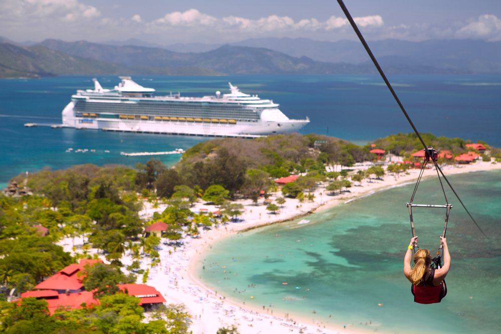 4/Royal Caribbean's private beaches