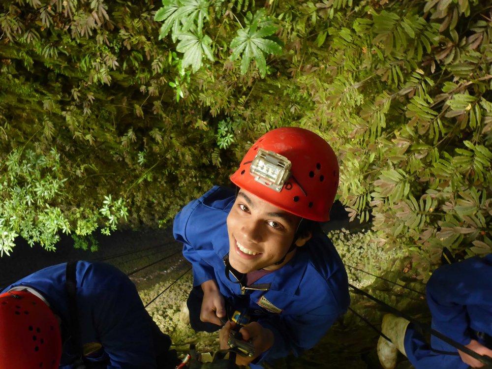 2/Abseil into a glowworm cave