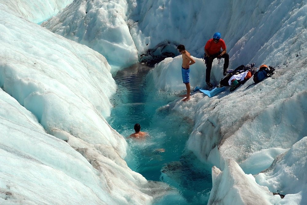 3/Plunge into a glacial pool