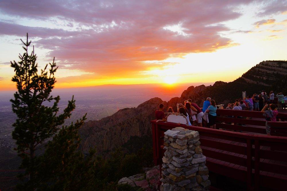 5/Ride Sandia Peak Tramway at sunset