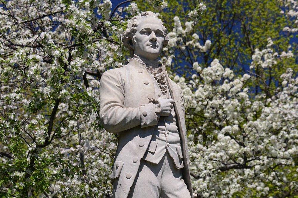 8/Hamilton statues