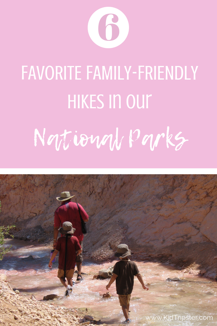 best family hikes in national parks, USA
