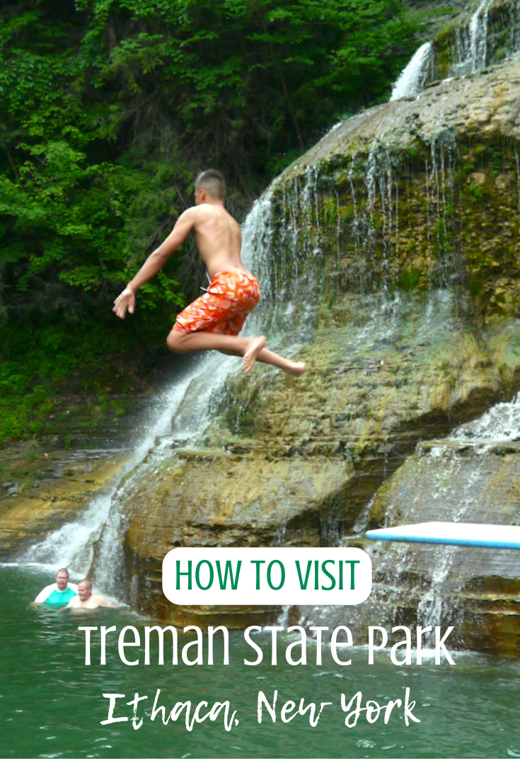 family vacation to treman state park, ithaca, new york