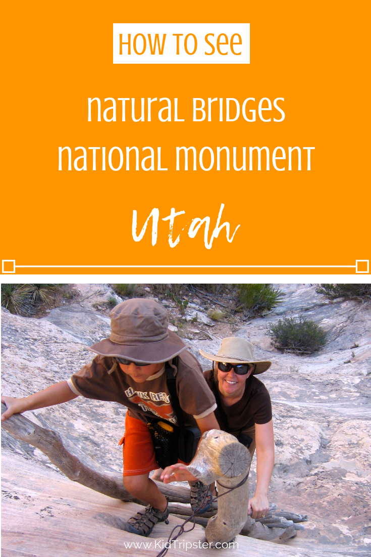 Family vacation to Natural Bridges National Monument, Utah