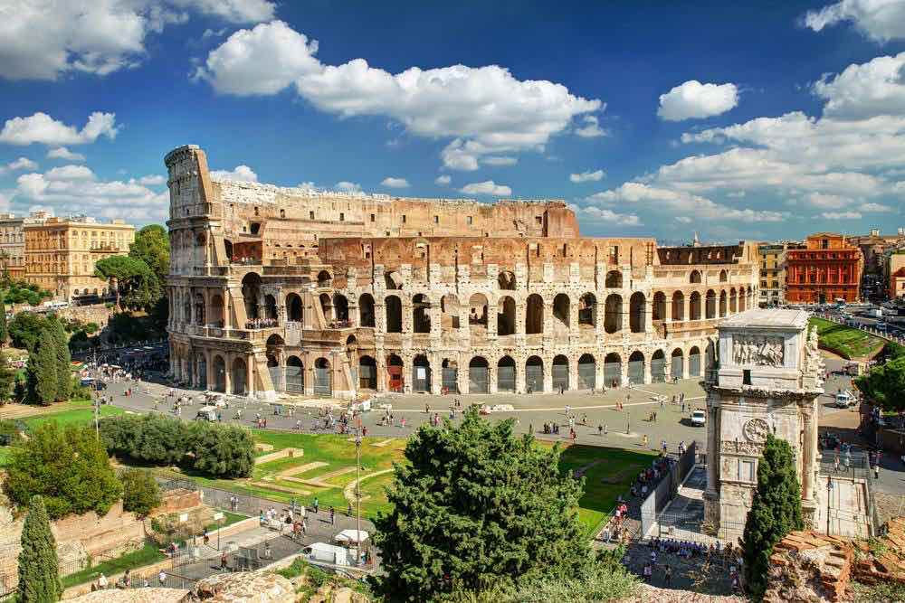Shore excursions on a cruise Rome