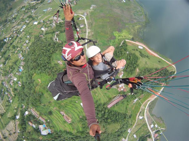 5/Paragliding in the foothills of the Himalayas