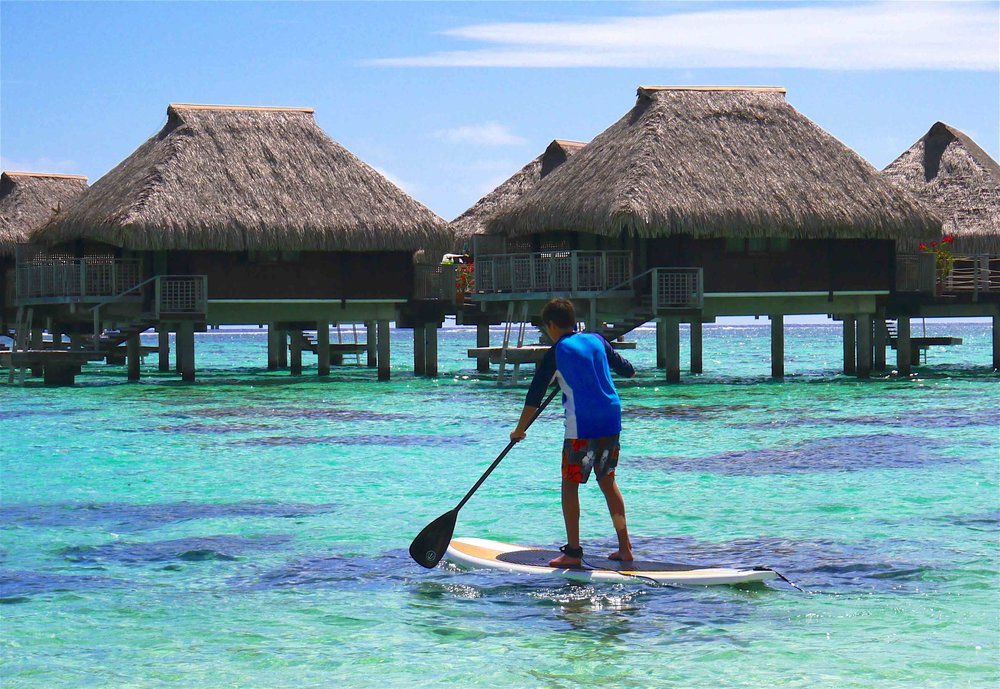6/Staying in an over-the-water bungalow