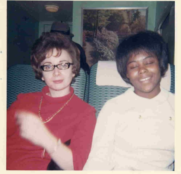 SNCC volunteer Aviva Futorian and local activist Alberta Tipler.