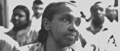 Sarah Robinson at a Civil  Rights meeting in 1964.