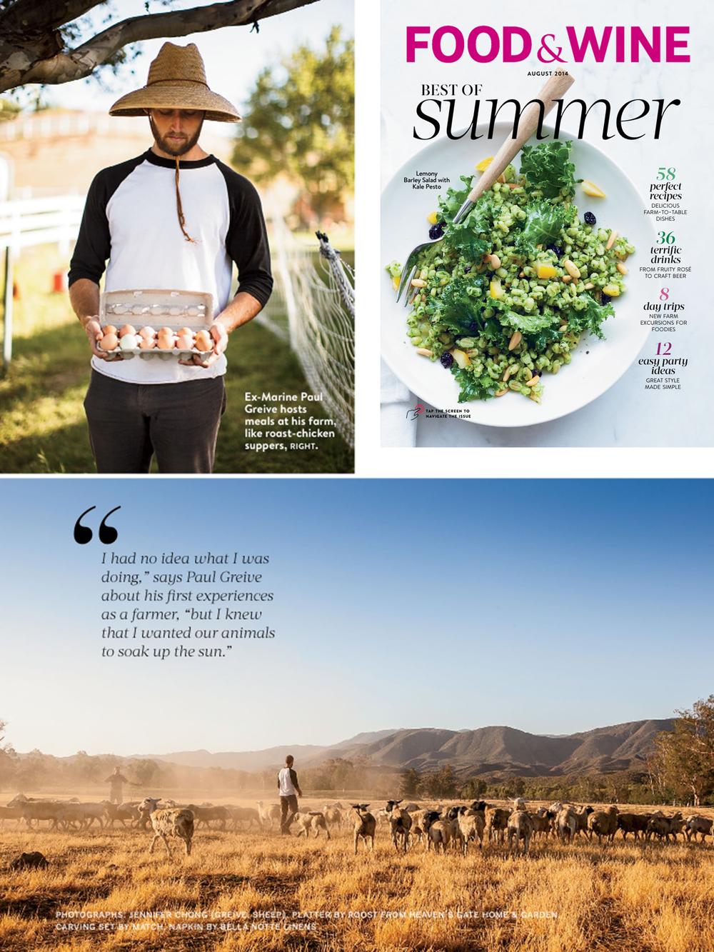 Primal Pastures in Food and Wine Magazine / Jennifer Chong