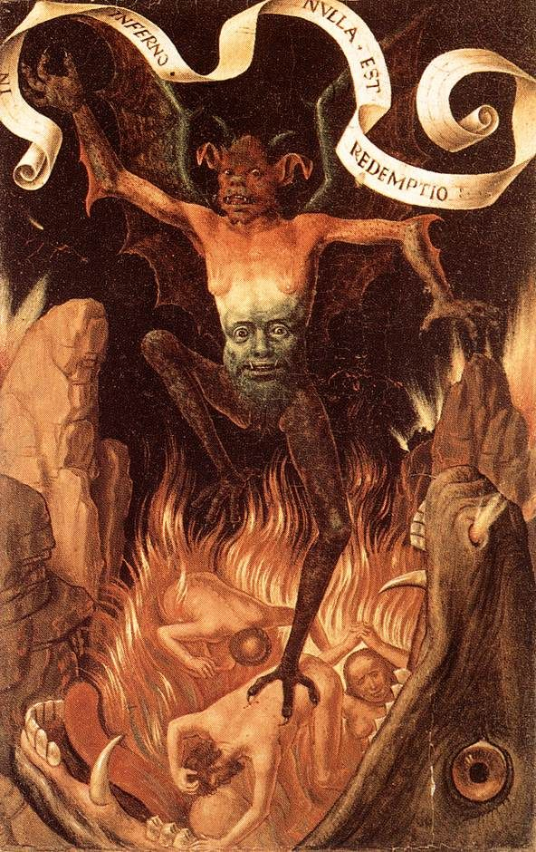 Hell (1485) by Hans Memling