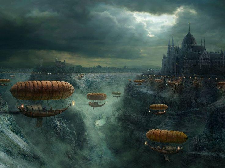 """""""Fantasy View of Budapest"""" by  Ravadits Kornel"""