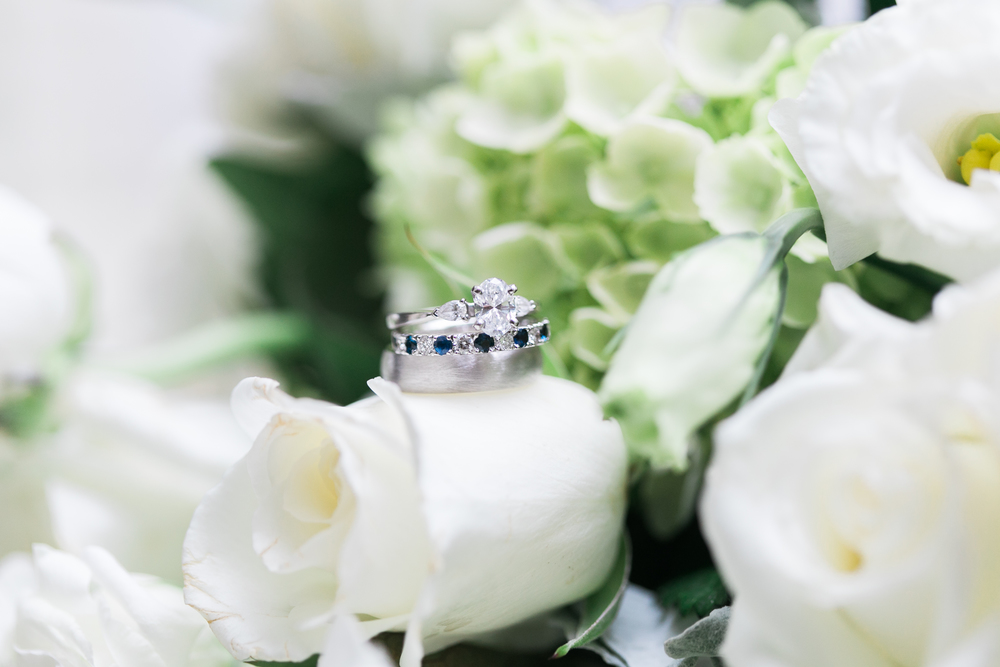 Leah's Engagement ring and personalized custom crafted wedding ring