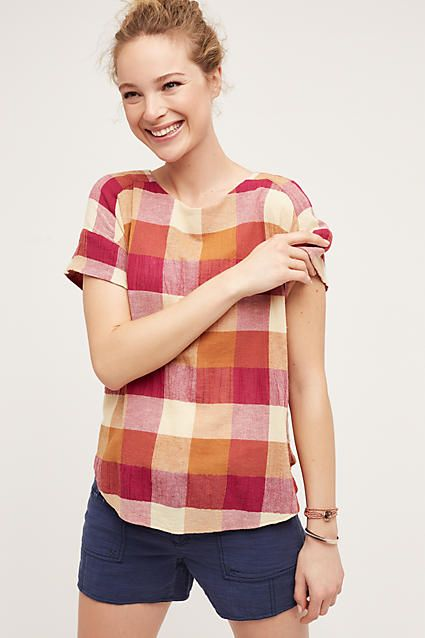 Isabella Sinclair Posy Plaid Top