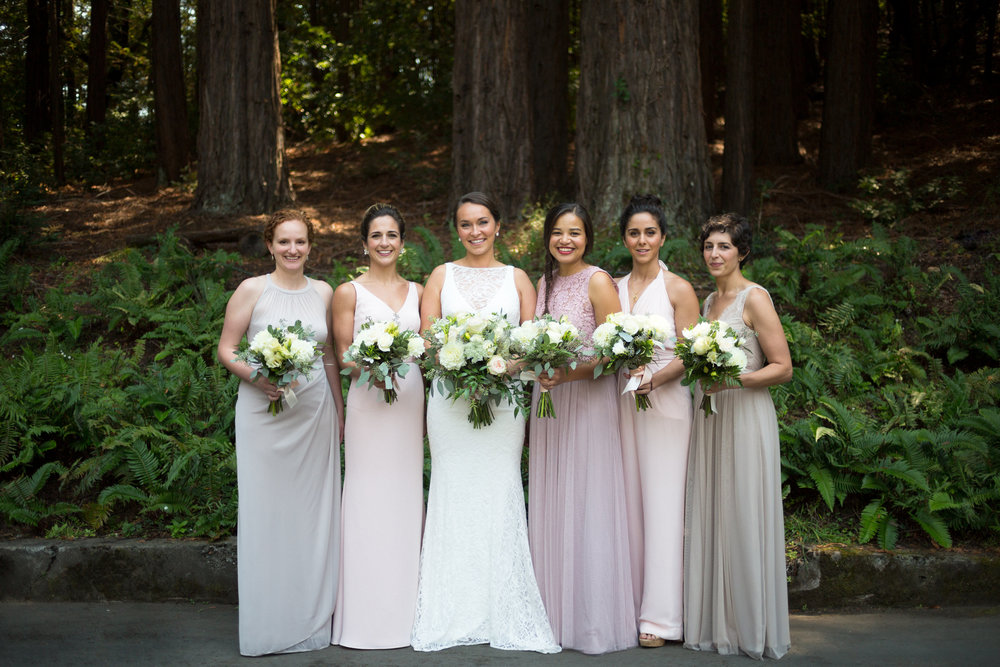 The bridesmaids & our beautiful bride. Photo by Danielle Motif Photography.