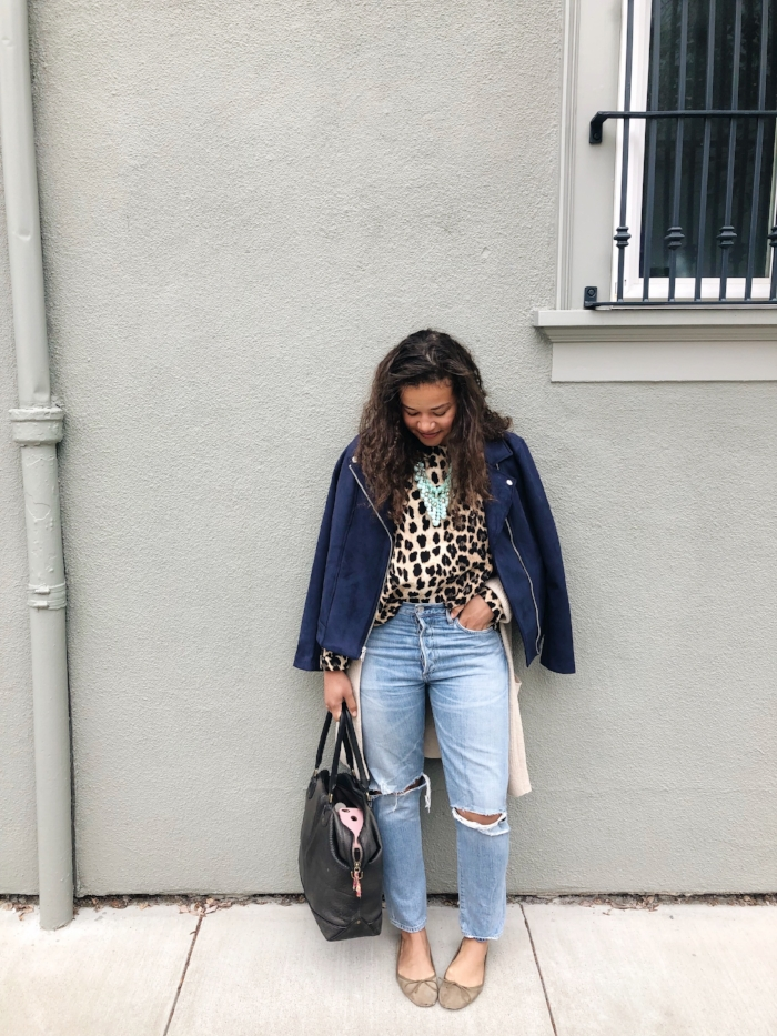 "Top: Zara | Sweater: Banana Republic | Jacket: Old Navy | Necklace: Anthropologie (gift from my Mom) | Jeans: Citizens of Humanity ""Liya"" 
