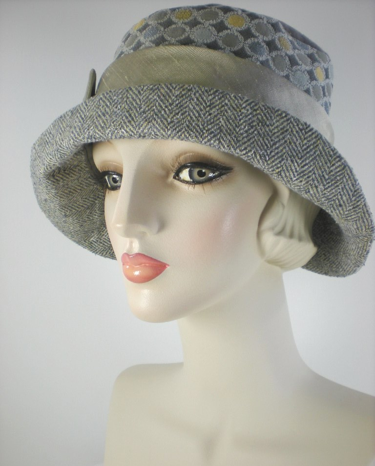 57c0a4715 Womens Winter Hat Ladies Tweed Bucket Hat Downton Abbey Hat