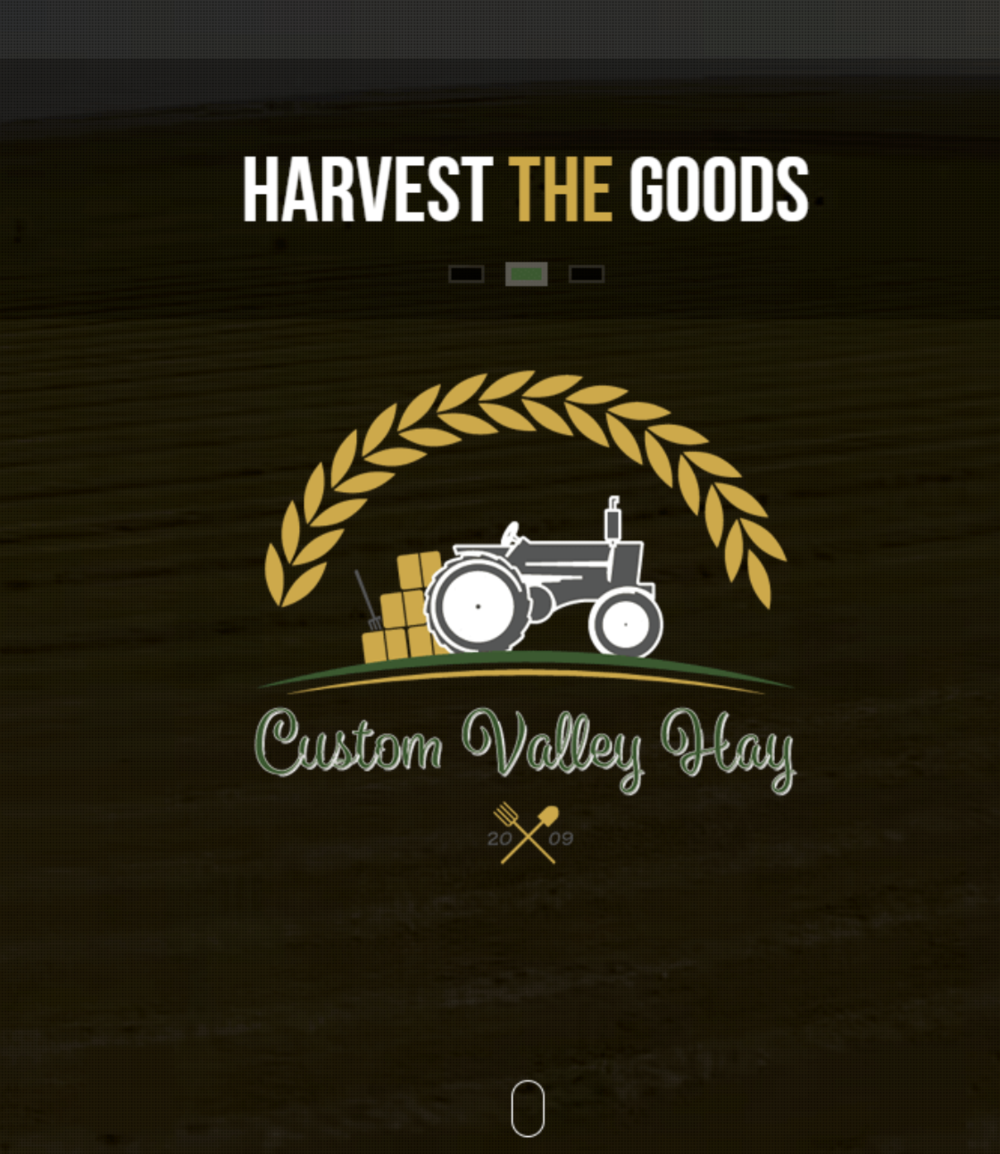 Custom Valley Hay Logo