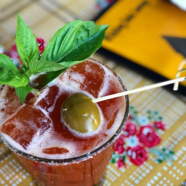 How to have a Monday Funday #whiskeysodalounge // 📷 Pok Pok Bloody Mary - Thai chiles and aromatics pounded in the mortar and pestle