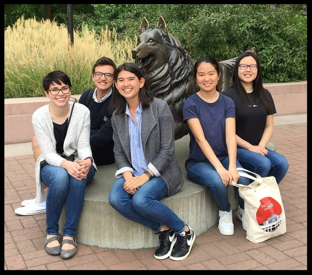 Spring 2018 / End of Year Get together! Left to Right: Prof. Jurcevic, CJ, Regan, Ruyue, and Angie