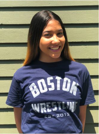 Meily A. Dandrade Franco   Meily is 14 and attends the John D. O' Bryant School. She has wrestled for 3 years. Meily's goals are to improve her wrestling skills and to be a runway model.