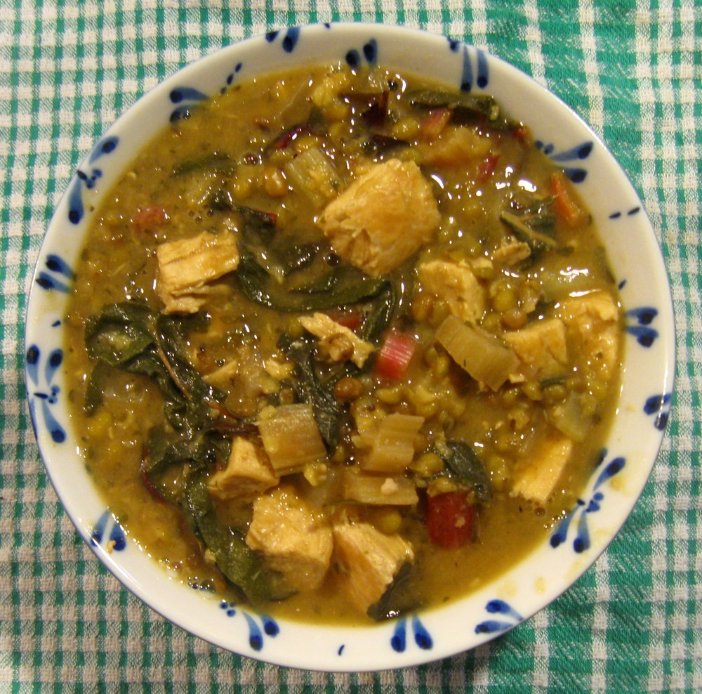 Chicken, Chard and Mung Bean Soup