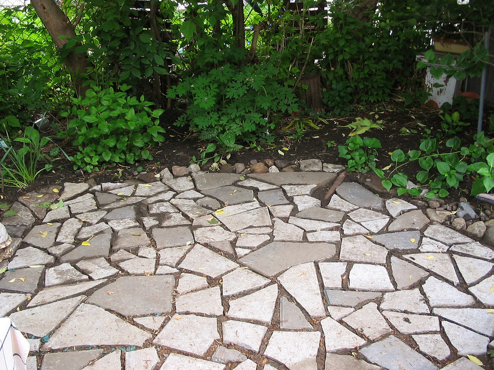 Upcycled Stone Patio
