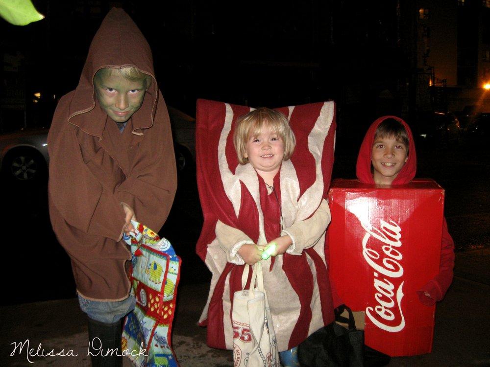 Boy#2, Boy#3, Boy#1 and their homemade costumes