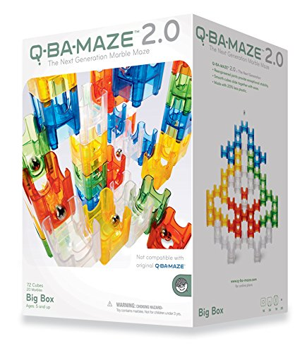 Who doesn't love a good marble run?   Q-BA-MAZE 2.0  teaches cause and effect as you kids build towers and tunnels and see where the marbles go. My four older kids (2yrs - 15yrs) all love playing with our marble runs, and it can be a great cooperative activity in addition to solo play.