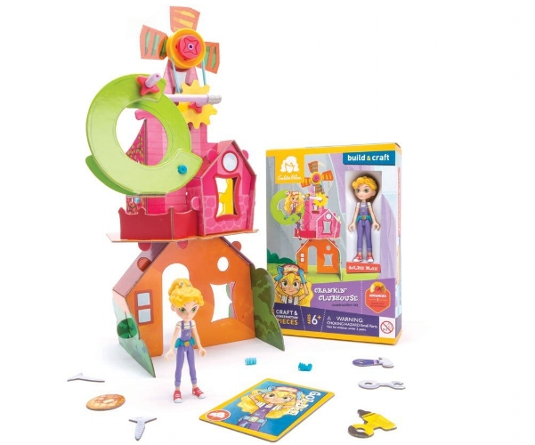 GoldieBlox is a line of engineering and building sets  aimed at girls to encourage STEAM creativity. Each set works on a different set of concepts and storyline, and children learn the how's and why's as they create and problem solve with Goldie and her friends.
