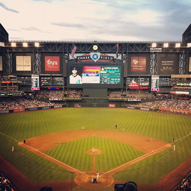 Continued an ancient family tradition by watching the old stick 'n' ball at @dbacks on April Fool's Eve. I know my forefathers would be looking down and smirking strangely. #baseball #diamondbacks #rockiesbaseball