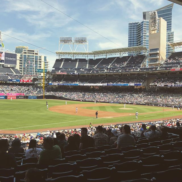 In San Diego to watch the @padres. Very much the Derby County of the baseball world, in a good way. #baseball #yourenotmyrealpadre