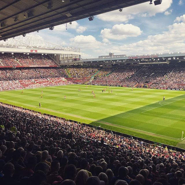 A great way to end the Premier League season at Old Trafford today. Thanks to @marksy_steve and @adidasuk #manchesterunited #watford #premierleague