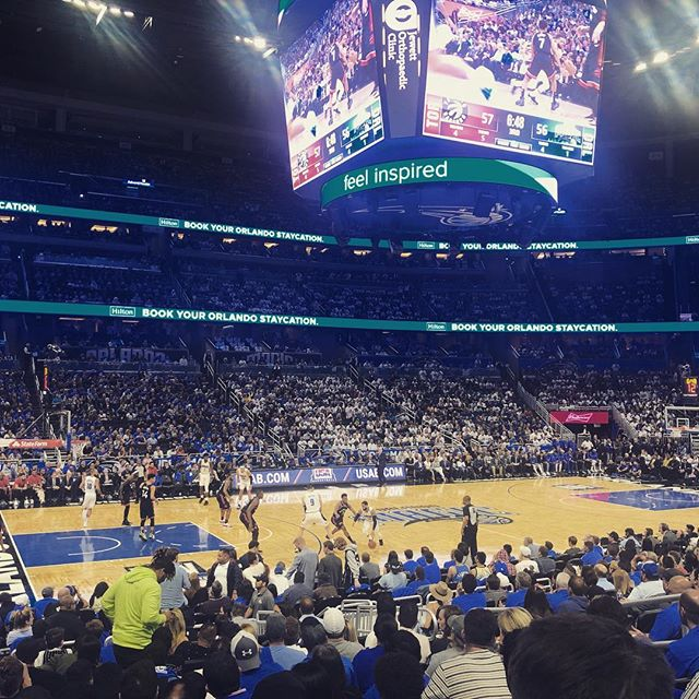 Did you guys know Space Jam was based on a real sport? Well it is and it's called 'basketball'. Here I am at the 'basketball' watching Orlando Magic and the Toronto Raptors play 'basketball'. Big thanks to @gregmatth  for the tickets. #nbaplayoffs #orlandomagic