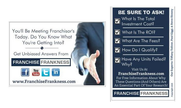 Franchise Frankness TradeShow Postcard